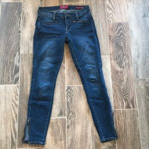 Lucky Brand Charlie super skinny 4 27 zip ankle